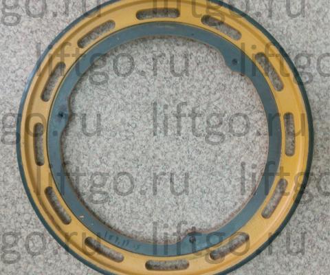 Приводное колесо поручня Kone, Schindler, D=497мм (3 посадочные отверстия с резьбой M10) // Колесо привода поручня D=496мм,