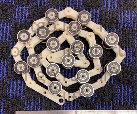 Роликовая батарея поручня головного участка Латрэс 17 звеньев
