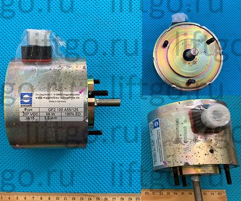 Тормоз электромагнитный Kone GF2 100 A55/125 207 VDC 58W, Электромагнитная катушка тормоза