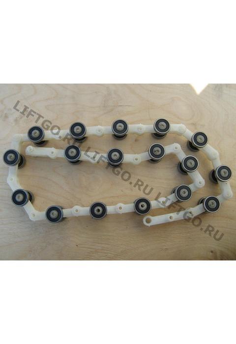 Обводная цепь торца балюстрады Schindler/Sigma 17 звеньев /Цепь роликовая /Обводная рейка поручня