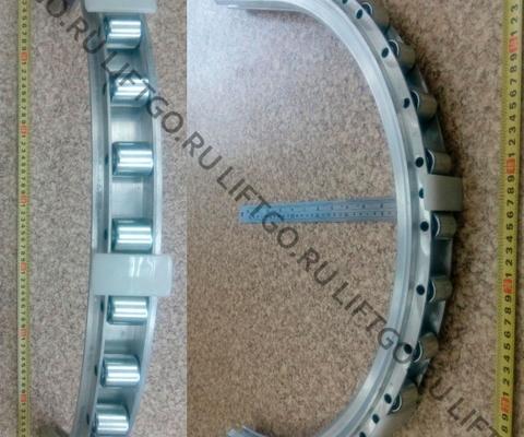 Алюминиевая направляющая огибающего участка в сборе с роликами 17 шт OTIS 506NCE