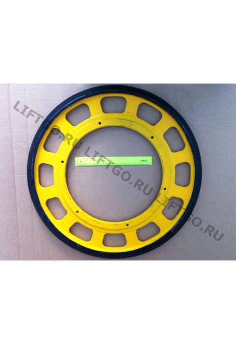Приводное колесо поручня эскалатора Canny Schindler BLT XIZI Otis SSL D587мм (крепление М10)