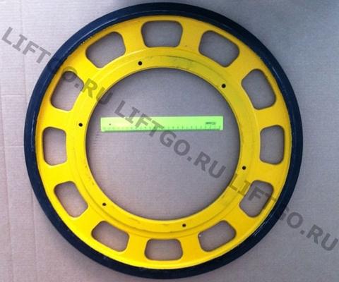 Колесо привода поручня 587мм// Приводное колесо поручня эскалатора Canny Schindler BLT XIZI Otis SSL D587мм (крепление М10)