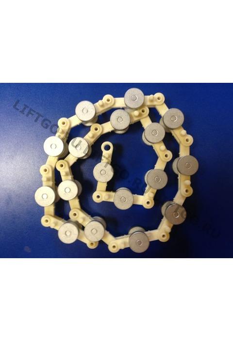 Цепь отклоняющая торца балюстрады, XIZI OTIS, 17 пар роликов (необслуживаемая)  / Обводная цепь