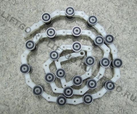 Отклоняющая цепь балюстрады Canny/Schindler 23 пары роликов / Обводная цепь